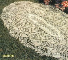 Large oval tablecloth