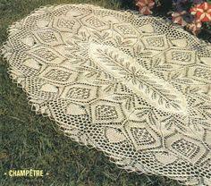 Kira knitting: Scheme knitted tablecloths 27