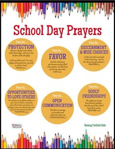 Prayers for a new year and every school day. Pray for our children, their future and the family! Prayer Scriptures, Bible Prayers, Bible Verses, Mom Prayers, Everyday Prayers, Children's Bible, Bible Quotes, Beautiful Words, Prayer For My Children