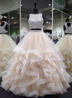 Plus Size Prom Dress, round neck tulle long prom dress, ball gown Shop plus-sized prom dresses for curvy figures and plus-size party dresses. Ball gowns for prom in plus sizes and short plus-sized prom dresses Cute Prom Dresses, Sweet 16 Dresses, Tulle Prom Dress, 15 Dresses, Ball Dresses, Elegant Dresses, Pretty Dresses, Homecoming Dresses, Prom Gowns