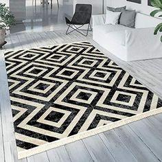 Dimension:60x100 cm Paco Home Tapis Int/érieur Et Ext/érieur Zigzag Rouge Orange Noir