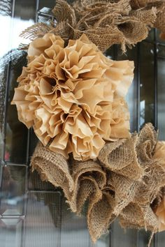 Coffee Filter Burlap Wreath