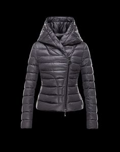 MONCLER | GAUBE: Biker jacket in doudoune élastique. Down shell in stretch fabric,
