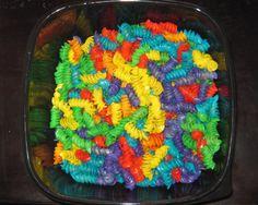 Rainbow party - pasta salad