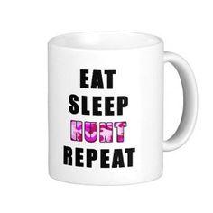 Eat Sleep Hunt Mug by TalkieAboutCoffee on Etsy