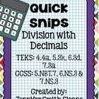 Quick Snips are interactive problems to assess basic concepts and skills aligned with TEKS and Common Core. In the Quick Snip- Subtraction with De. Math Multiplication, Fractions, Math Cafe, Grade 6 Math, Sixth Grade, I Love Math, Math Magic, Math Division, Order Of Operations