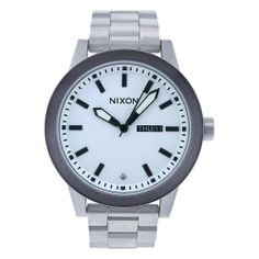 NIXON Men's A263-100 Stainless Steel Analog Silver Dial Watch NIXON. $169.00. Quartz movement. Scratch resistant mineral. Stainless steel case. Case diameter: 42 mm. Water-resistant to 100 M (330 feet). Save 32%!