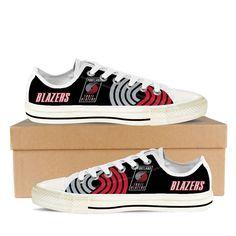 portland trail blazers mens low cut sneakers cut. White Shoes ... 9f8e0c0bc