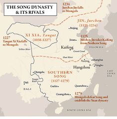 Map of the Song Dynasty