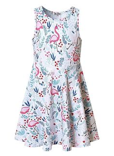 Fairy Baby Girls Outfit Summer Casual Kids Playwear Beach Pleated Sleeveless Floral Dress