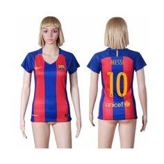 Barcelona Fodboldtøj Dame 16-17 Lionel Messi 10 Hjemmebanetrøje Kortærmet.  http://www.fodboldsports.com/barcelona-fodboldtoj-dame-16-17-lionel-messi-10-hjemmebanetroje-kortermet.  #fodboldtrøjer