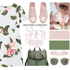 sneakers and dresses by sebi86 on Polyvore featuring polyvore, moda, style, MANGO, H&M, Skagen, Humble Chic, Karen Walker, fashion and clothing