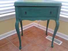 Sewing Table refinished with Annie Sloan Chalk Paint, color, Florence