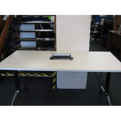 Second Hand Flip Top Conference Table With Slender Chrome Legs At - Second hand conference table