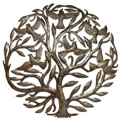 Metal 'Tree of Life' Handmade Oil Drum Art (Haiti) - 11542543 - Overstock.com Shopping - Top Rated Global Crafts Wall Hangings