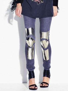Celebrities who wear, use, or own Acne Spring 2010 Medeival Armor Jeans. Also discover the movies, TV shows, and events associated with Acne Spring 2010 Medeival Armor Jeans. Fashion Details, Diy Fashion, Fashion Looks, Womens Fashion, Fashion Design, Gold Fashion, Fashion Brand, Warrior Fashion, Concept Clothing