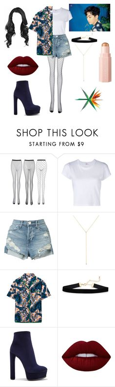 """""""EXO- KO KO BOP. Xiumin"""" by inocorbe ❤ liked on Polyvore featuring RE/DONE, 3x1, ZoÃ« Chicco, Steve J & Yoni P, Casadei and Lime Crime"""