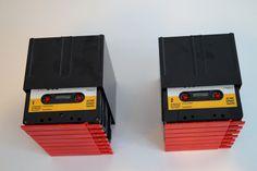 Vintage  Cassette Case setCassette Tape Holders Vintage 1960s 1970s Cassette Tape  Boxes.Set of two.Cassette Tape Holder Organizer Storage