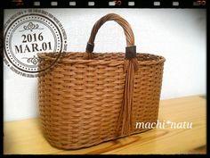 ミニミニかご~クラフトバンド Straw Bag, Baskets, Sewing, Knitting, Bags, Handbags, Dressmaking, Couture, Tricot