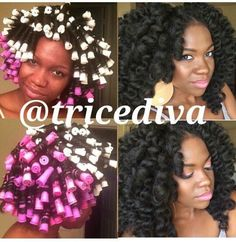 We Love Perm Rods! - 20 totally Gorgeous Perm Rod Sets We Found For Inspiration… braid styles curls perm rods We Love Perm Rods! – 20 Totally Gorgeous Perm Rod Sets We Found For Inspiration [Gallery] Be Natural, Natural Hair Tips, Natural Hair Inspiration, Natural Hair Styles, Natural Beauty, Crochet Braids Marley Hair, Crochet Hair Styles, Natural Hair Perm Rods, Perm Rod Set