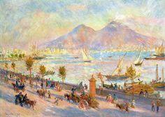 """Renoir, 1881. """"La Baia di Napoli""""."""