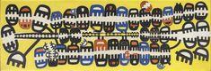 Giuseppe Capogrossi, Superficie n. 25, 1952 Tornabuoni Art - La Dolce Vita Courtesy Tornabuoni Art