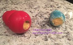 K9sOverCoffee | Stuffed Kongs On Kitchen Counter, Waiting To Go Into The Freezer!