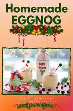 Nogs go back to merry old England. The idea of mixing eggs with alcohol and spices is a very old world thing and the original varieties were hot drinks involving beer and raw eggs. When it comes to #eggnog you have several choices but once you take one sip of one of the #homemade eggnog #holidayrecipes we got, you'll never go back to the store-bought version! #holiday #recipe […] The post Holiday Recipes: Homemade Eggnog Recipe appeared first on Sweet Southern Savings.