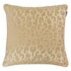 Paoletti Gold Coloured Leopard Print Cushion