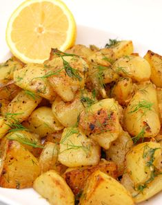 Greek Style Lemon Roasted Potatoes - would never make 4# so would have to adjust recipe, but sounds yummy