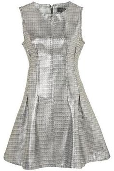 Topshop Metallic Shift Dress