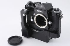 Nikon F 35mm Black SLR Film Camera with F-36 Motor Drive