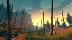 Simon Parkin on Firewatch, the new video game from Campo Santo, and its co-creator, the graphic designer Olly Moss. Thriller, Best Indie Games, Olly Moss, Night In The Wood, Wanderlust, True Art, Beautiful Artwork, Game Design, Set Design