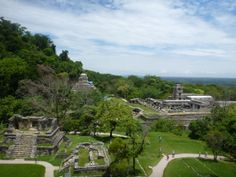 Palenque, Chiapas State, Mexico and Palenque archaeological site