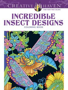 Beetles, grasshoppers, dragonflies, and other insects never looked so good! More than 30 fantastical designs transform common bugs into ornately decorated creatures. A delight to color, the intricate, full-page images feature floral backgrounds.
