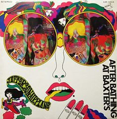 "TANAAMI KEICHI - 1968. Jefferson Airplane RCA- Japan. (( +""ELECTRIC BANANA: Masters of Psychedelic Art"" cover)). KEIICHI was a leading POP ART illustrator in Japan + he made groundbreaking Video art and in the Neo Dada organization. He designed LP covers for JA, THE MOPS, MONKEES, BEE GEES & others. In 1968 his award winning ""No More War"" piece for AVANT-GARD and ""Wonder Girl"" for Playboy  are both great. His 1971 animated film ""Good-by Elvis and USA"" is pretty genius."