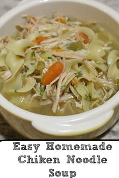 Easy Stove Top Homemade Chicken Noodle Soup perfect frugal winter meal. Also it's perfect to make for when feeling ill as well. Full of flavor and filling! #NoYolks #NoOtherNoodle #ad #soup