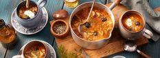 Pikantes Kürbis-Curry Rezept - REWE.de Punch Bowls, Pudding, Kitchen, Desserts, Food, Low Carb, Pumpkin Soup Coconut Milk, Soups And Stews, Curry Soup