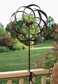 metal garden spinner