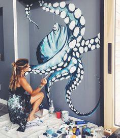 Ideas baby bath room decoration wall art for 2019 Painting Inspiration, Art Inspo, Amazing Art, Cool Art, Art Projects, Art Photography, Street Art, Artsy, Artwork