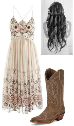 This is a great look, LOVE that sun dress! I would change the boots for a nice sandal.