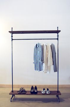"""Möbel - Original Kleiderstange """"fireandsteel Indus... - ein Designerstück von fireandsteel bei DaWanda"""