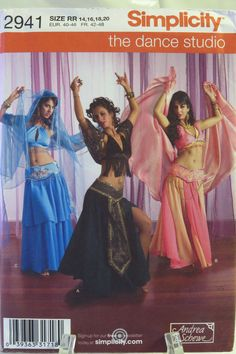 Simplicity 2941 Misses' Belly Dance Costume