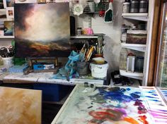 www.sjbart.com  #workinprogress #inthestudio #painting #landscape #art #wales