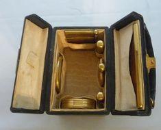 Rare! Small Ladies Travel Cosmetic Case Necessaire Perfume Lipstick : Cribtoy's Closet | Ruby Lane