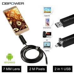 """2 в 1 Эндоскоп Android и ПК USB Инспекции Камеры 7/8 ММ 20. MP 720 P HD Бороскоп Видео Камера 6 Регулируемых  LED экранов ночного видения DC 5 В2 в 1 <font style=""""font-size: 105.0%;"""