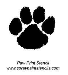 Crochet afghans drawings and google on pinterest for Tiger paw template