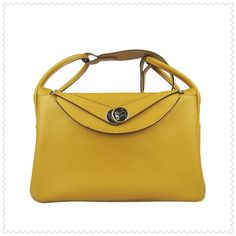 Hermes Lindy Shoulder Bags Yellow