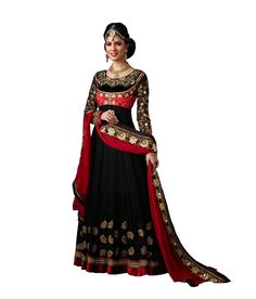 Loved it: Ajay And Vijay Black Pure Georgette Semi Stitched Embroidered Salwar Suit, http://www.snapdeal.com/product/ajay-and-vijay-black-pure/955385244