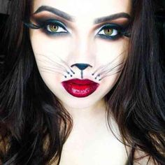 maquillage chat pour femme Maquillage Sorciere, Maquillage Halloween  Enfant, Deguisement Halloween Femme, Maquillage